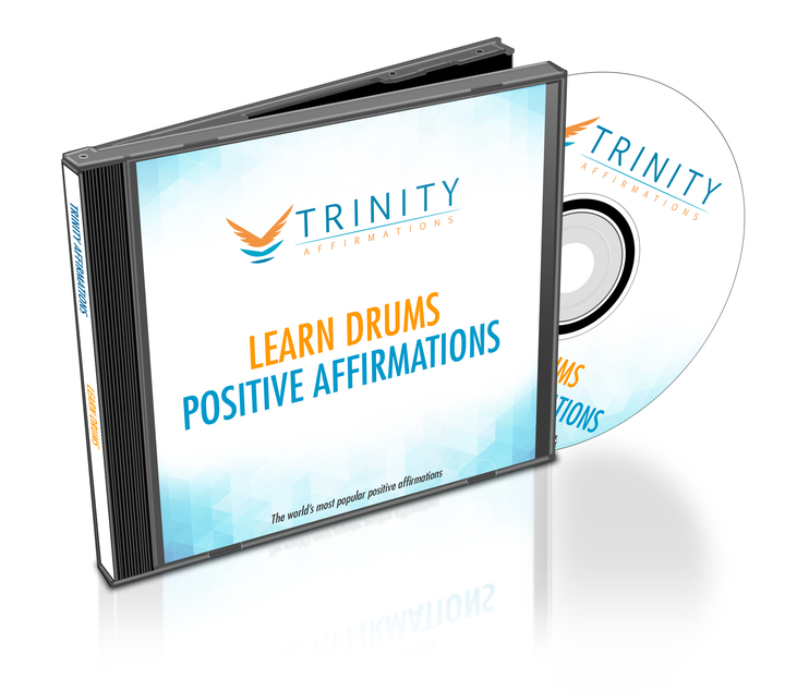 Learn Drums Affirmations CD Album Cover