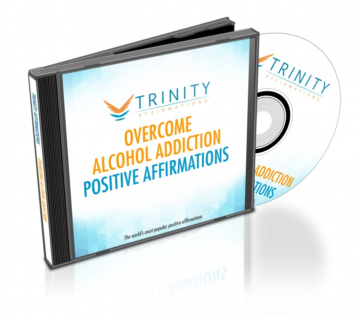 Overcome Alcohol Addiction Affirmations CD Album Cover