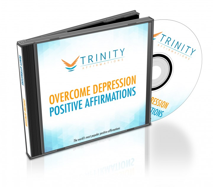 Overcome Depression Affirmations CD Album Cover