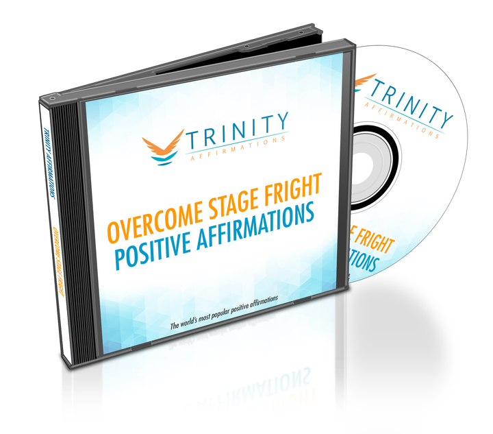 Overcome Stage Fright Affirmations CD Album Cover